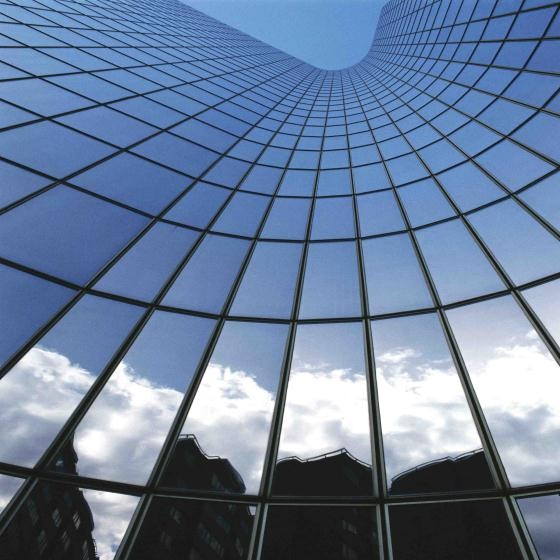 building sky reflection